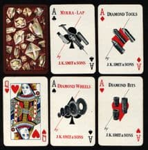 Collectible Advertising playing cards Advert. Smith diamond tools.