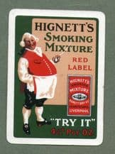 Collectible Advertising playing cards Hignett's smoking mixture
