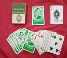 Collectible Advertising playing cards. Woodbine cigarettes