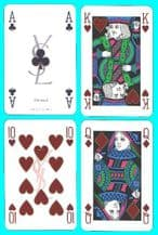 Collectible Advertising playing cards. Yves-Saint-Laurent.  1984