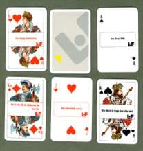 Collectible Advertising Swedish playing cards. L.F. 1990