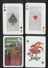 Collectible airline advertising playing cards. Finnair, Finland airlines