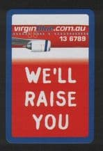 Collectible airline advertising playing cards. Virgin-Blue Airlines