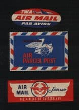 Collectible Airlines airmail stickers labels collection  #246