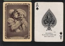 """Collectible Antique American wide name playing cards """"Sweethearts"""" by Russell"""