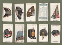 Collectible Cigarette cards set Military Head-dress 1931 set