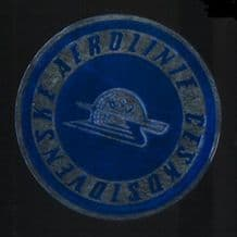 Collectible Czechoslovakia old Airline label luggage #370