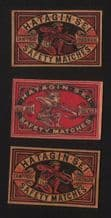 Collectible match box labels CHINA or JAPAN patriotic #462