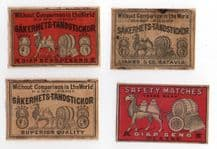 Collectible  match box labels CHINA or JAPAN patriotic Camel  #218