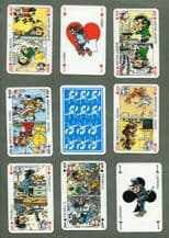 Collectible Non-standard court playing cards courts.Gaston Lagaffe.1986
