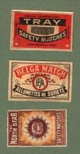 Collectible OLD BELGIUM export match box labels RARE #274