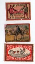 Collectible OLD match box labels CHINA or JAPAN patriotic#130