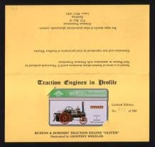 Collectible Phonecard BT Telephone card OLIVER traction engine #027