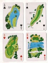 Collectible  playing card  Great Golf Holes Flagpin 1987