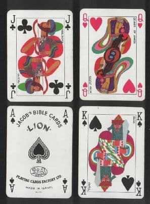 Collectible  playing cards .Jacob's Bible cards