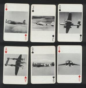 Collectible playing cards Aircraft Recognition. . C1940.