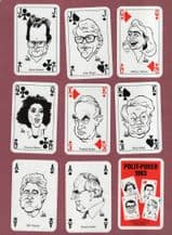 Collectible playing cards courts. Polit-poker International 1993