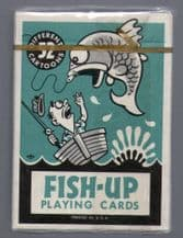Collectible playing cards Fish-up. 52 fishing cartoons