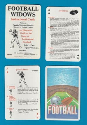 Collectible playing cards Football Widows guide to American football game