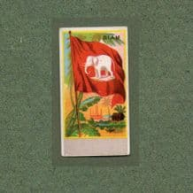 Collectible SIAM cigarette cards  old flag White Elephant RARE #420