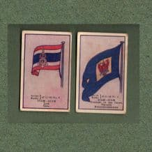 Collectible  SIAM cigarette cards old Thailand flags RARE ** #556