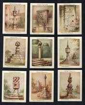 Collectible Tobacco cigarette cards set Old Sundials 1928