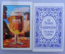 CollectibleVintage Beer adverting playing cards Skol Lager,