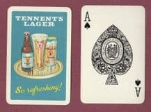Collectible Vintage beer advertising playing cards Tennent's Lager,
