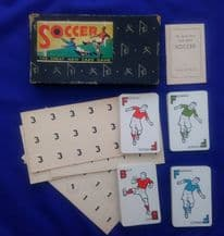 Collectible Vintage Cards game  Soccer by Waddington, c