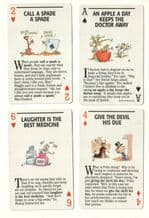 Collectible Vintage Non-standard playing cards. Proverbs,