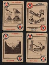Collectible Vintage Non-standard playing cards. Survival 1974.