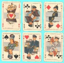 Collectible vintage  playing cards courts. Maritiem 1943,