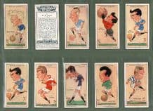 Football  cards Cigarette cards /Football Caricatures 1927