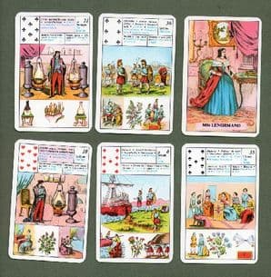 Fortune telling playing cards The little Lenormand 1976
