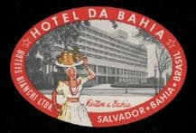 Hotel label luggage labels baggage Brazil  #094