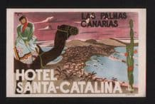 Hotel label luggage labels baggage Canary Islands  #279