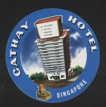 Hotel label luggage labels baggage Singapore  #072