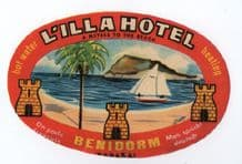 Hotel label luggage labels Spain pretty colours  #309