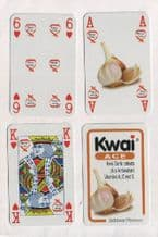 Non-standard advertising playing cards Kwai garlic