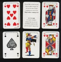 Non-standard playing cards. Compaq computor cards