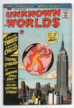 Old American Comic book Unknown Worlds # 44.  issued in 1965