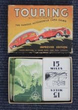 Old Cards Game  'TOURING`  Motoring  Made by Parker Bros