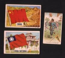 OLD CHINA cigarette cards chinese topic  #258