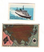 original vintage labels for shipping lines  #986