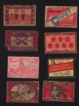 Patriotic VERY OLD match box labels CHINA or JAPAN #436