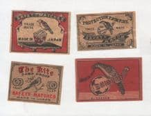 Patriotic Vintage match box labels CHINA or JAPAN  #823