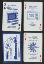 Phil & Jim TV. Vintage advertising playing cards