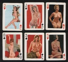Pin-up vintage playing cards Royal Flushes. #031