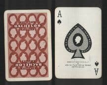 Playing cards Vintage Advertising Players Bachelor cigarettes #4