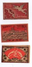 Selection of OLD match box labels CHINA  patriotic #198